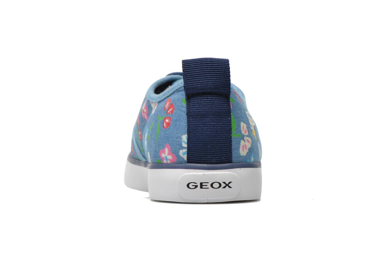 Deportivas Geox JR Ciak Girl J5204E Azul vista lateral derecha