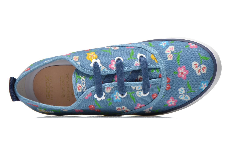 Sneaker Geox JR Ciak Girl J5204E blau ansicht von links