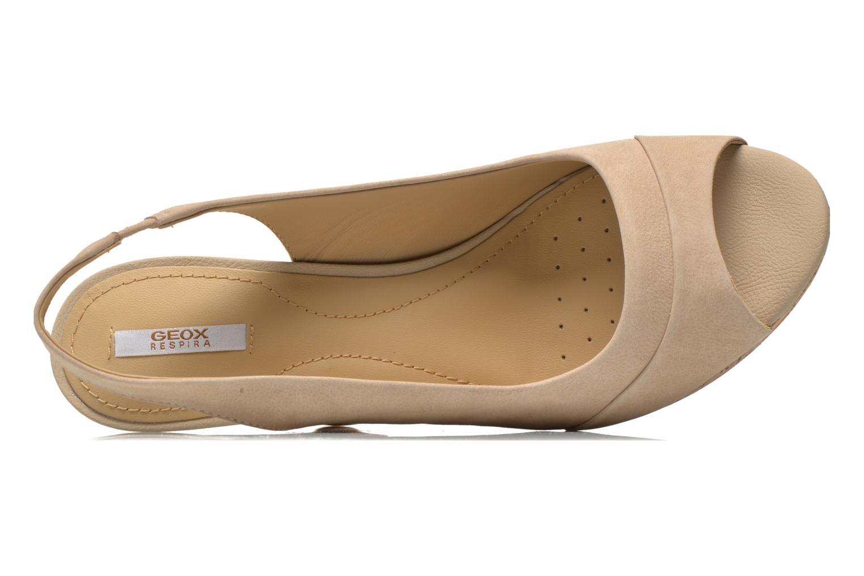 Sandali e scarpe aperte Geox D Nurit D5271B Beige immagine sinistra