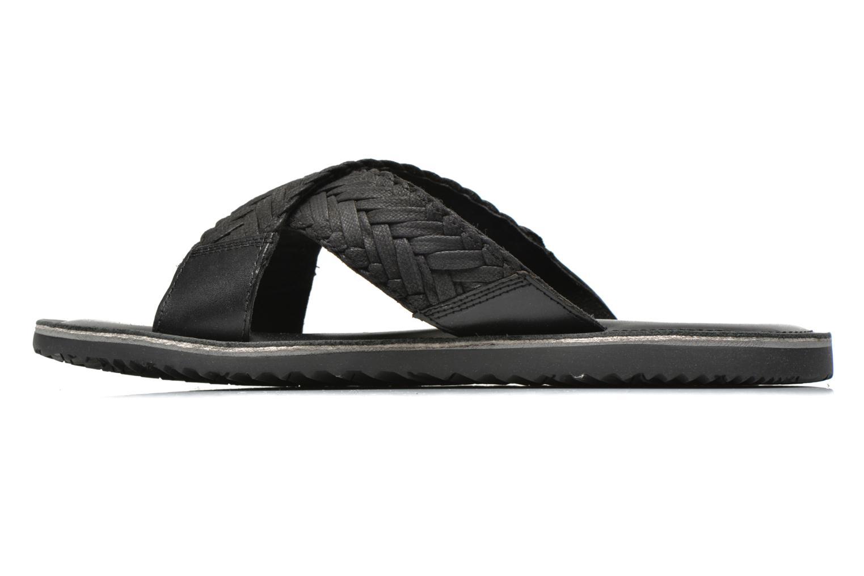 Sandales et nu-pieds Geox U Artie U52V1I Noir vue face