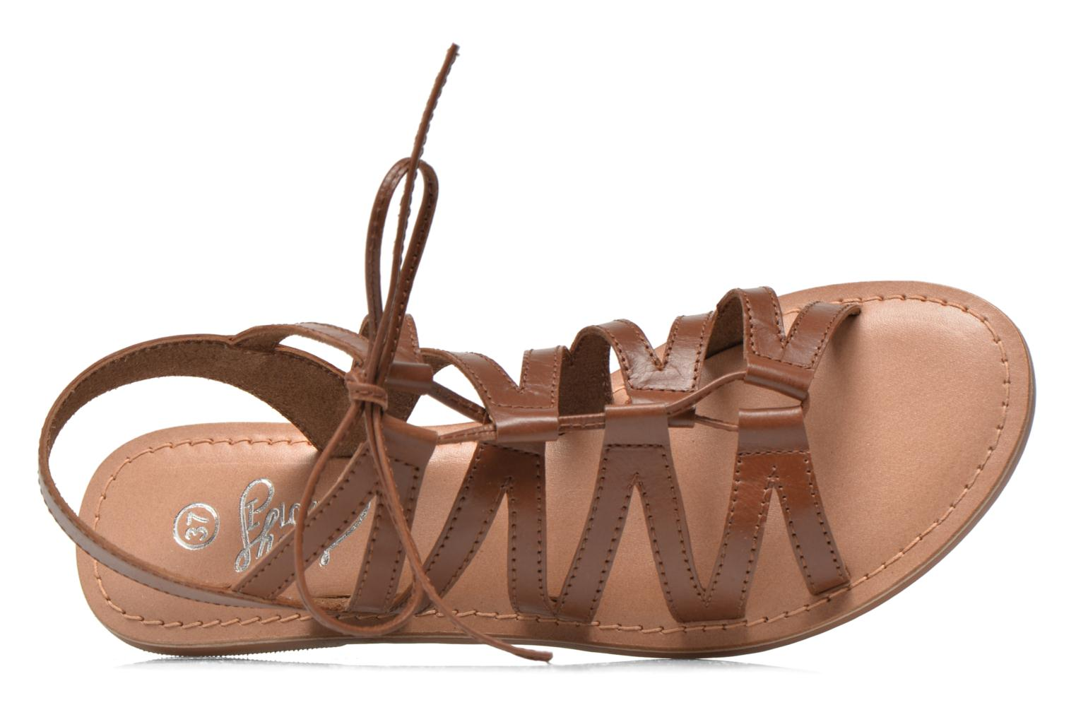 Sandales et nu-pieds I Love Shoes SUGLI Leather Marron vue gauche