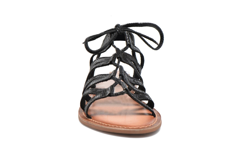 Sandales et nu-pieds I Love Shoes SUGLI Leather Noir vue portées chaussures
