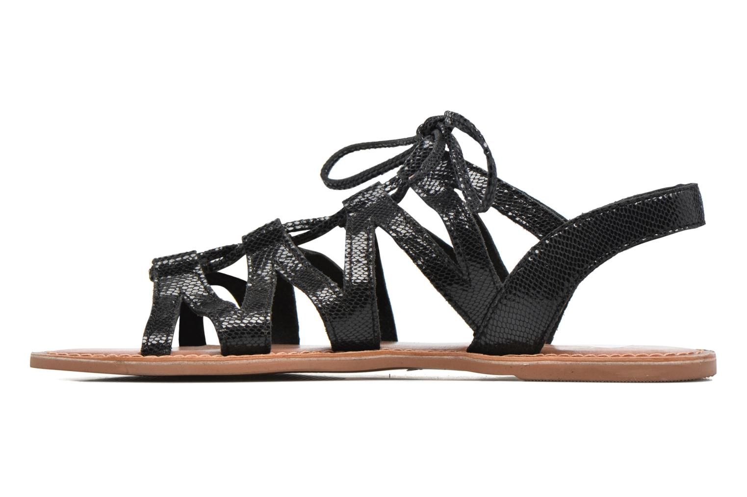Sandals I Love Shoes SUGLI Leather Black front view