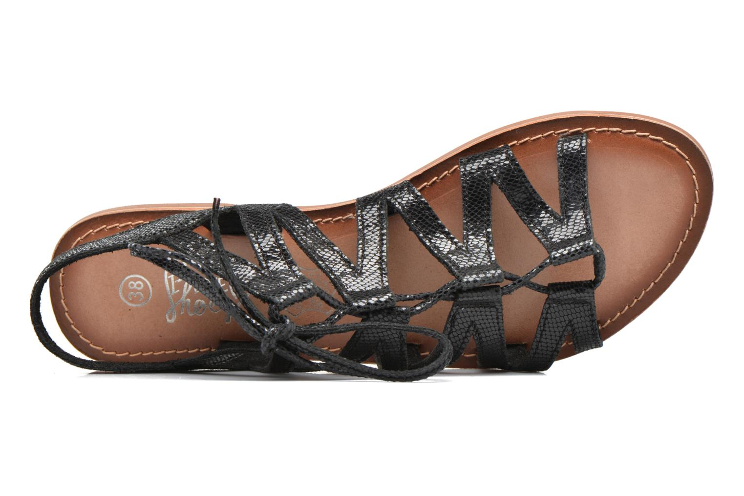 Sandals I Love Shoes SUGLI Leather Black view from the left