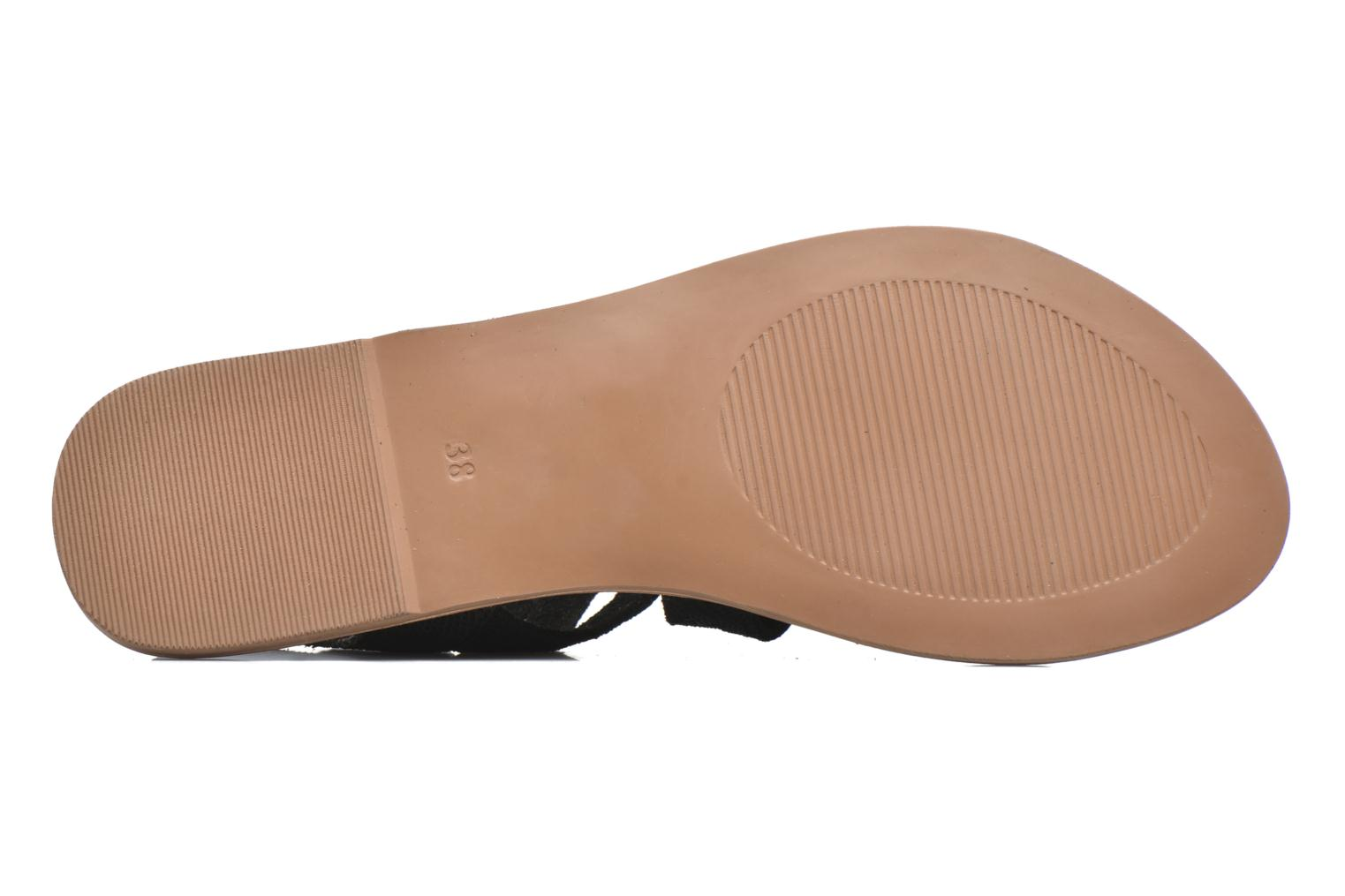 Sandals I Love Shoes SUGLI Leather Black view from above