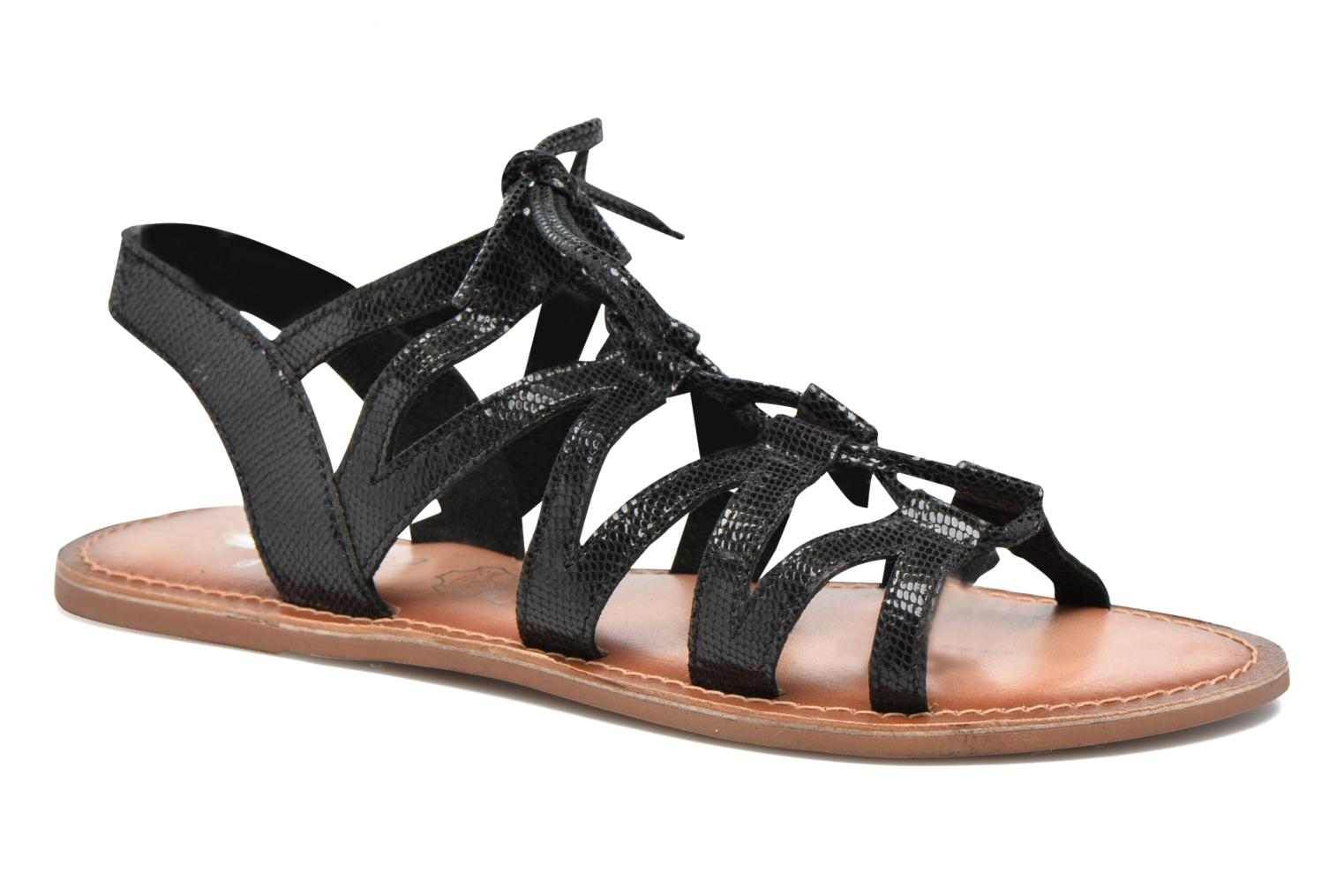 Sandals I Love Shoes SUGLI Leather Black detailed view/ Pair view