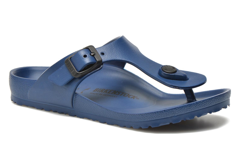 Sandales et nu-pieds Birkenstock Gizeh EVA Bleu vue détail/paire