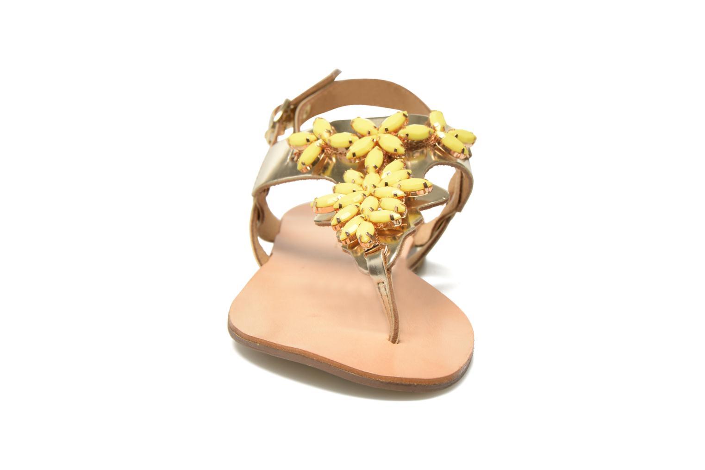 Sandales et nu-pieds Georgia Rose Dollie Or et bronze vue portées chaussures