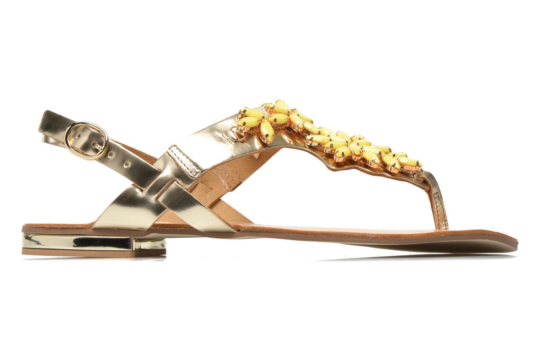 Sandalias Georgia Rose Dollie Oro y bronce vistra trasera