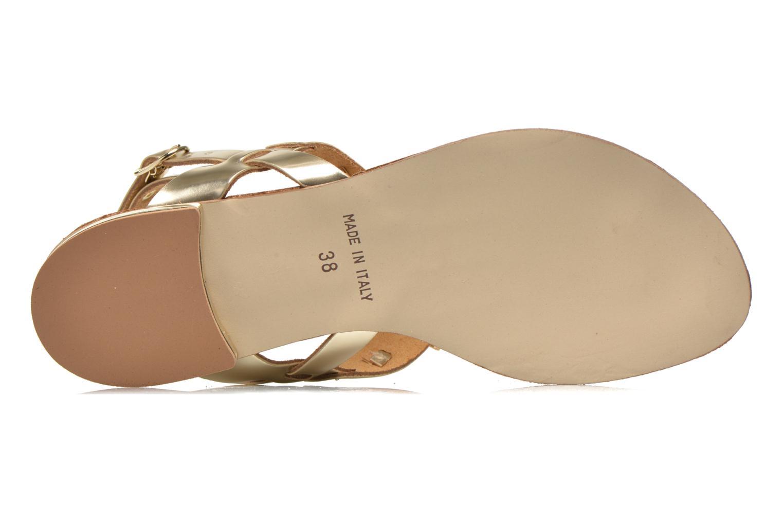 Sandales et nu-pieds Georgia Rose Dollie Or et bronze vue haut