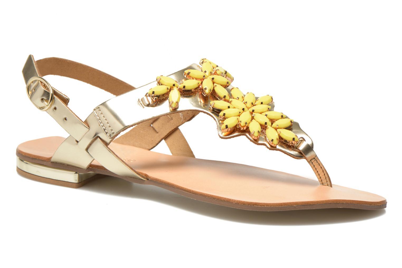 Sandales et nu-pieds Georgia Rose Dollie Or et bronze vue détail/paire