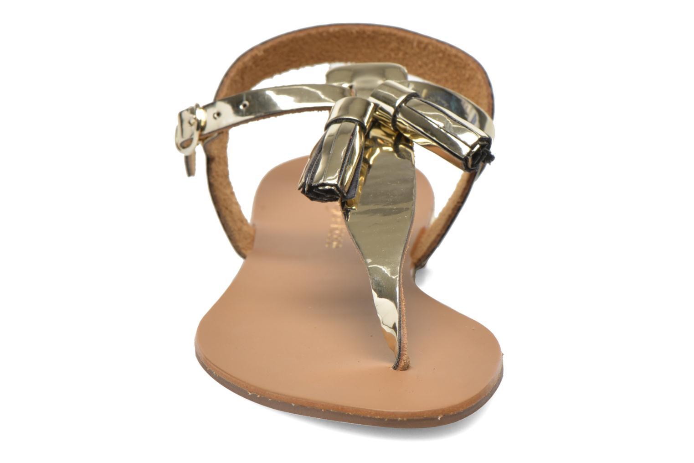 Sandales et nu-pieds Georgia Rose Dormine Or et bronze vue portées chaussures