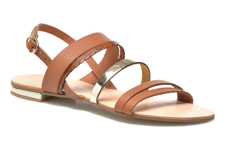 Sandales et nu-pieds Georgia Rose Doloress Marron vue détail/paire