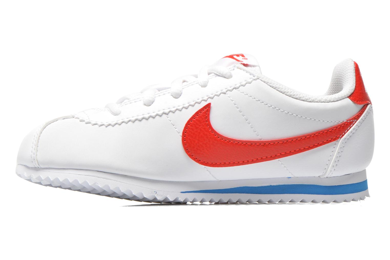 Deportivas Nike Nike Cortez (Ps) Blanco vista de frente