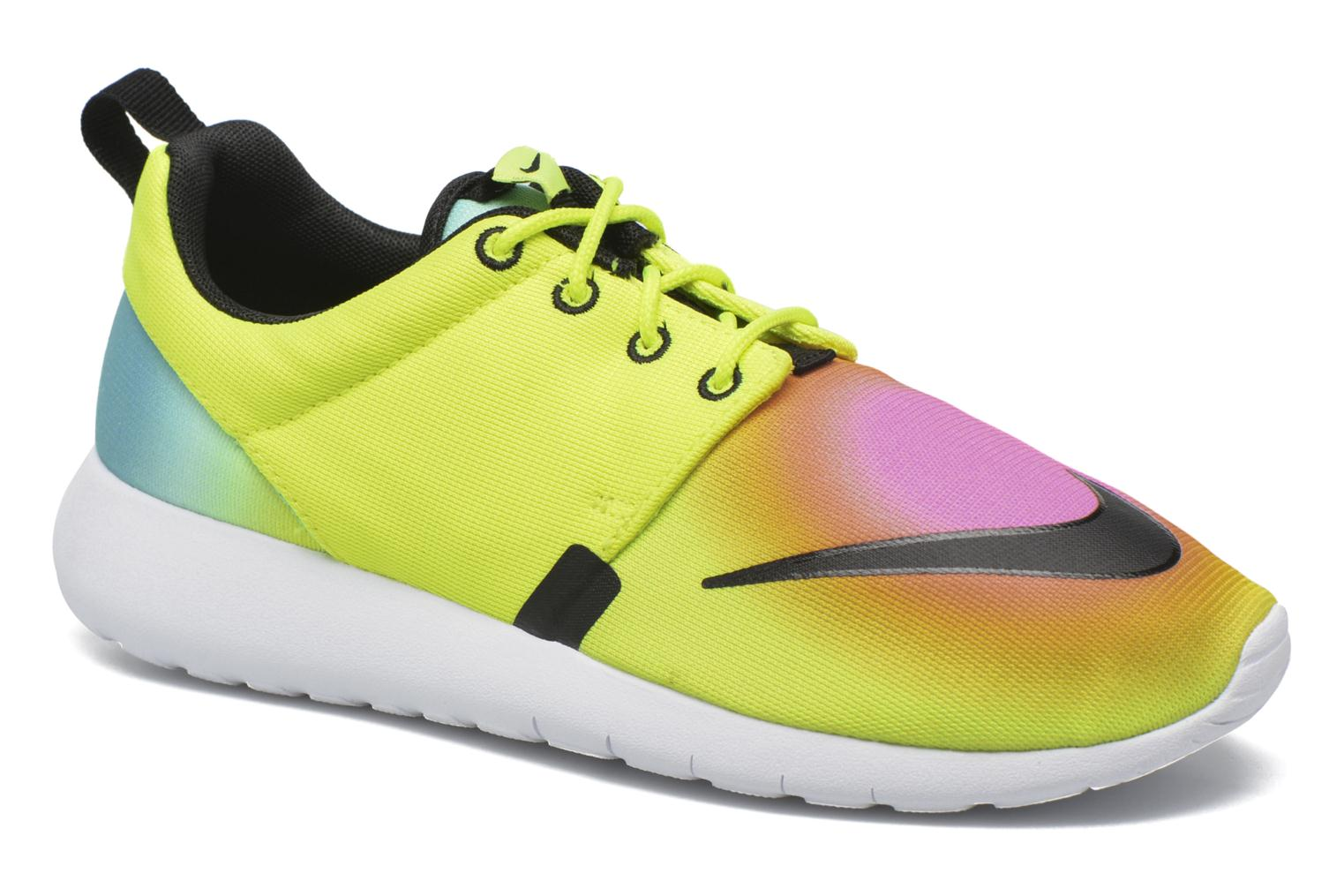 Baskets Nike Nike Roshe One Fb (Gs) Jaune vue détail/paire