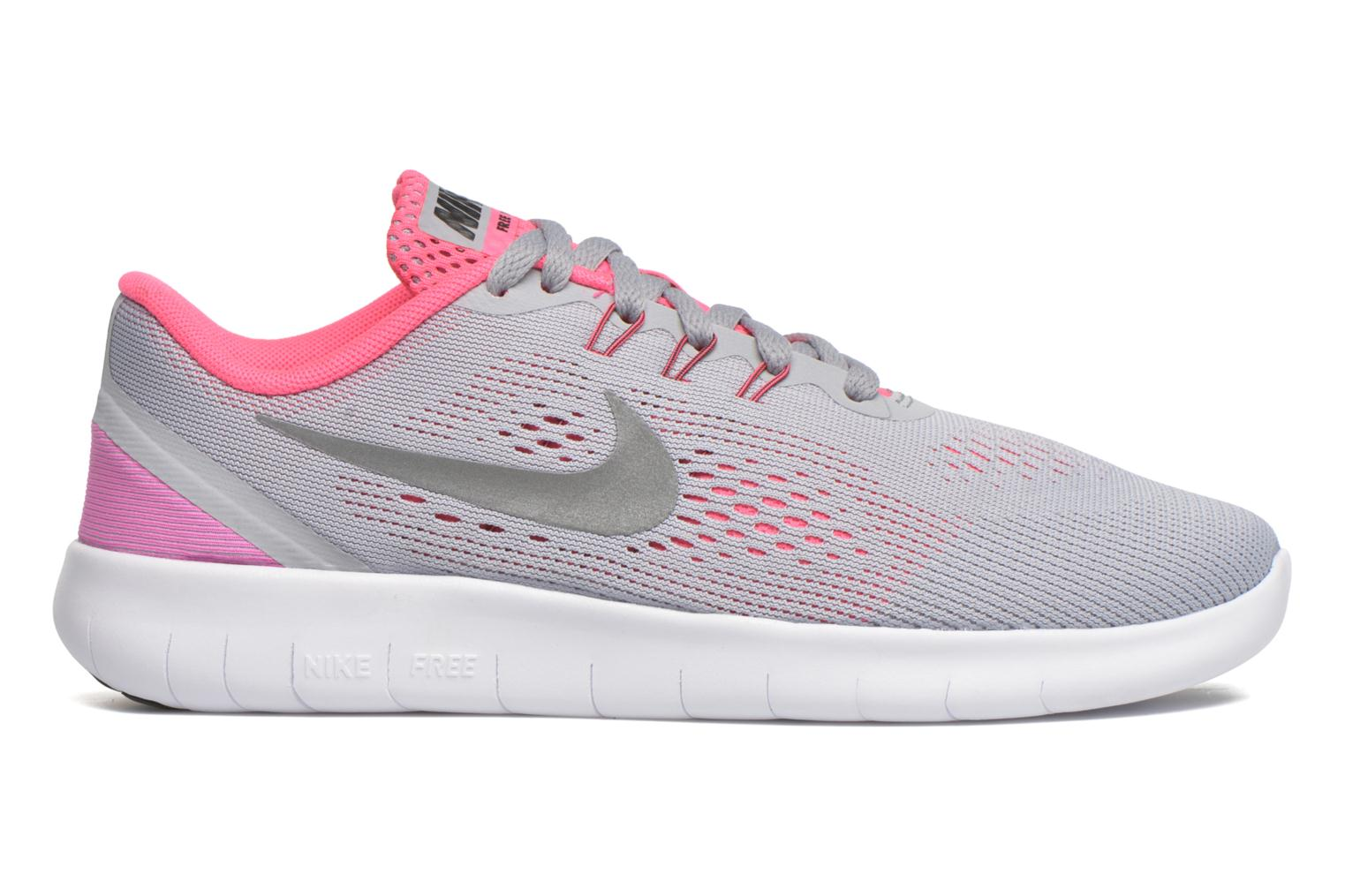 Nike Free Rn (Gs) Wolf Grey/Metallic Silver-White-Black