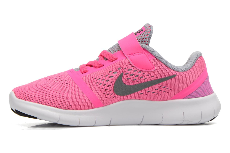 Nike Free Rn (Psv) Pnk Blast Mtllc Slvr-White-Blk