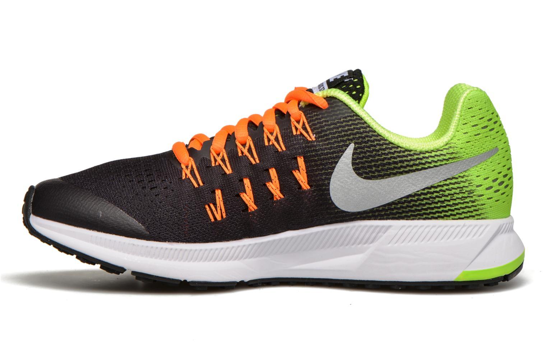 Nike Zoom Pegasus 33 (Gs) Black Mtllc Slvr-Vlt-Ttl Orng