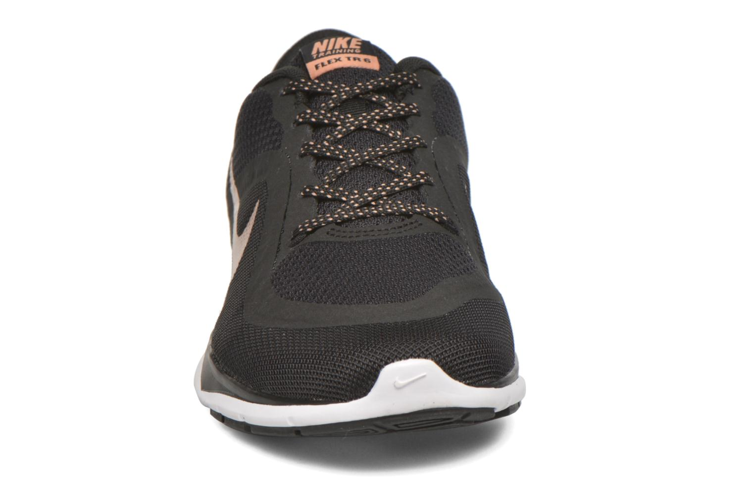 Wmns Nike Flex Trainer 6 Black/Mtlc Red Bronze-White