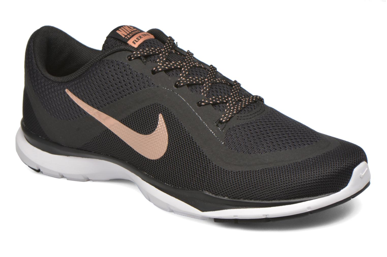 Sport shoes Nike Wmns Nike Flex Trainer 6 Black detailed view/ Pair view