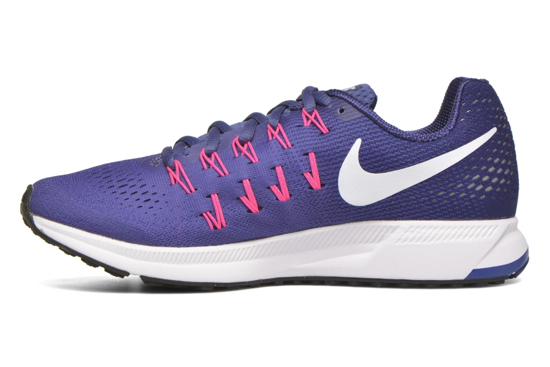 Wmns Nike Air Zoom Pegasus 33 Dk Prpl Dst/White-Lyl Bl-Pnk B