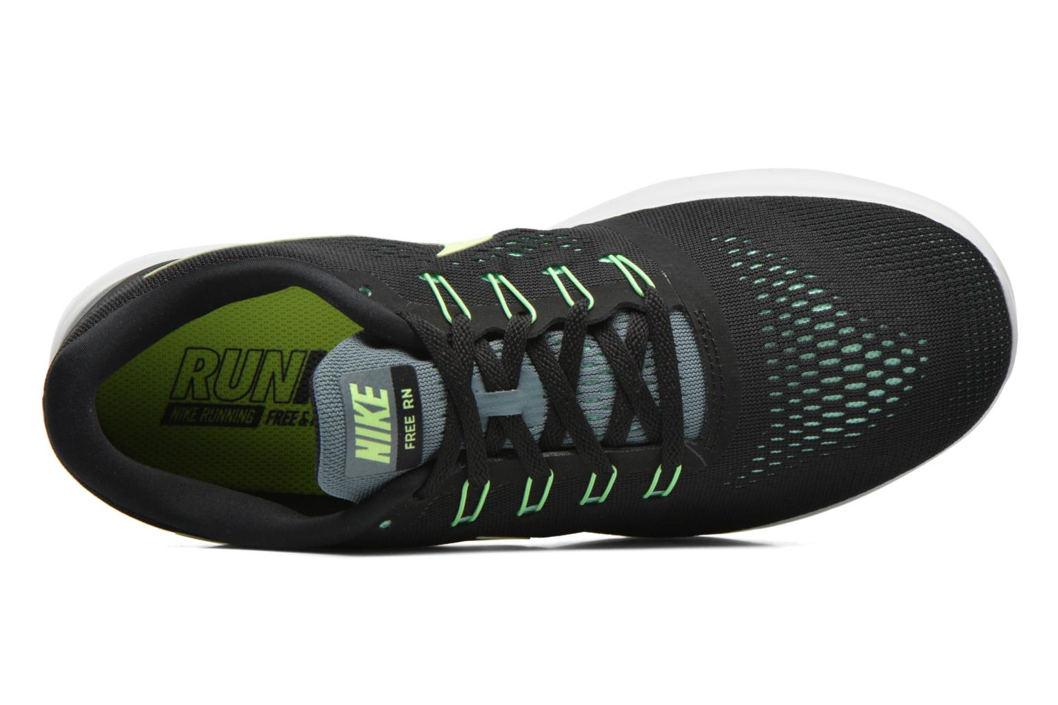 Nike Free Rn Black/Ghost Green-Hasta-Green Glow