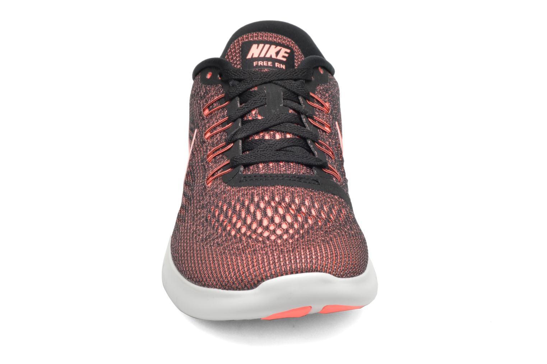 Wmns Nike Free Rn Black/Lava Glow-Off White