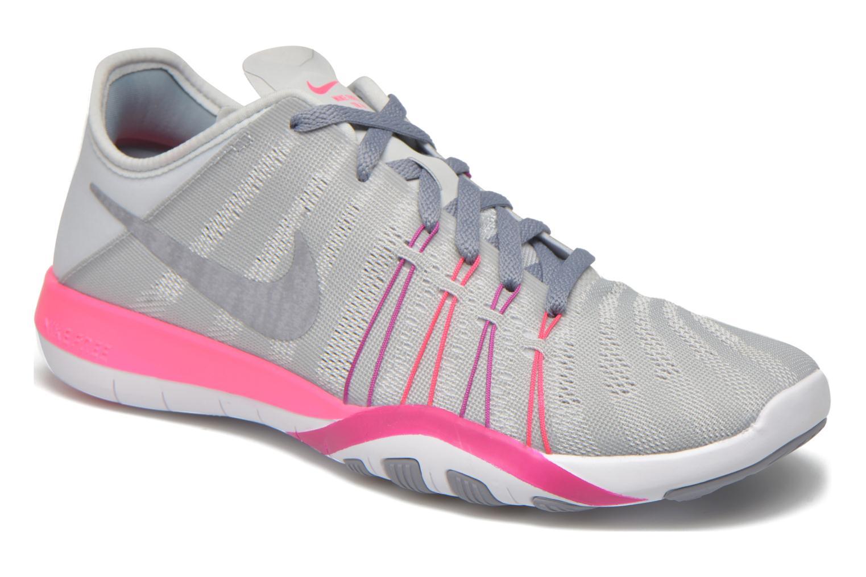 Chaussures de sport Nike Wmns Nike Free Tr 6 Gris vue détail/paire