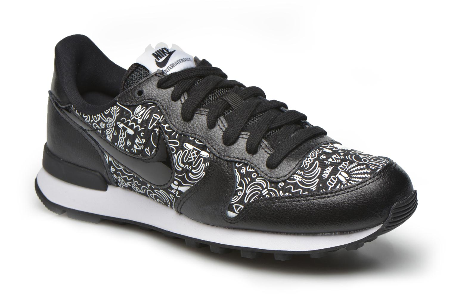 Baskets Nike W Internationalist Print Noir vue détail/paire