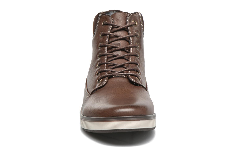 Baskets I Love Shoes SUPERENT Marron vue portées chaussures