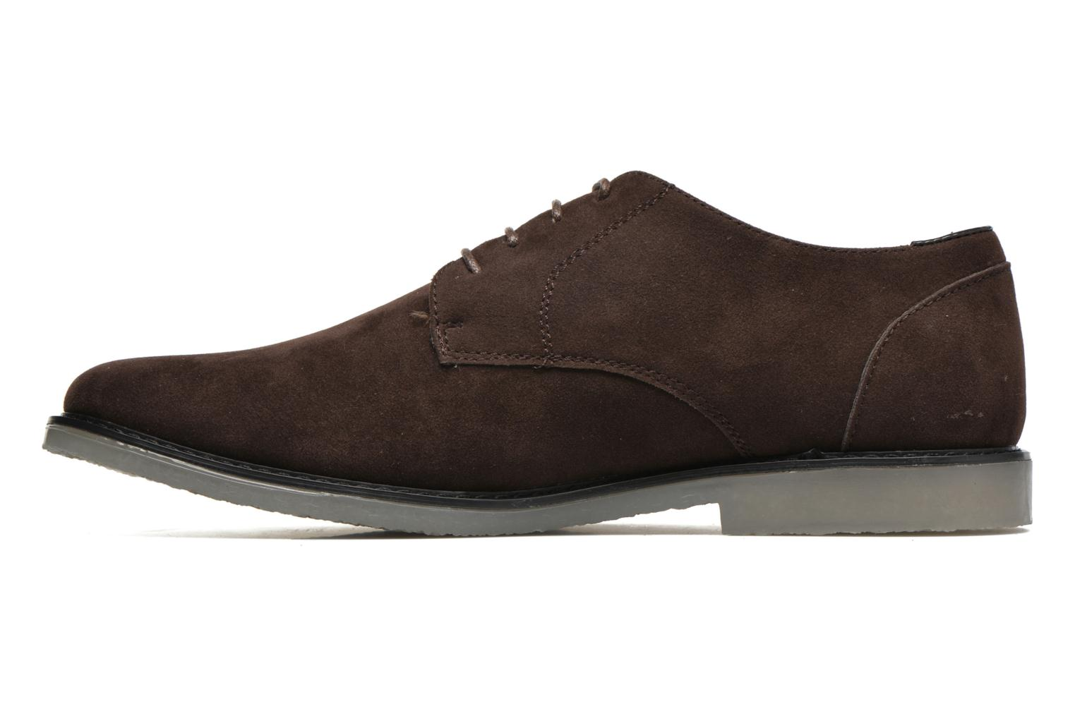 Lace-up shoes I Love Shoes SUPERBES Brown front view