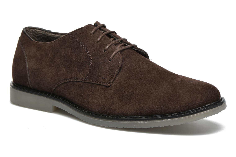 Snörade skor I Love Shoes SUPERBES Brun detaljerad bild på paret