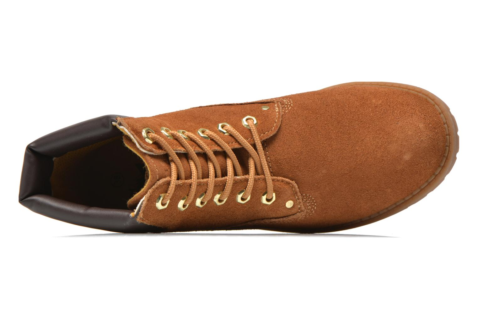 Lace-up shoes Xti Isia-30029 Brown view from the left