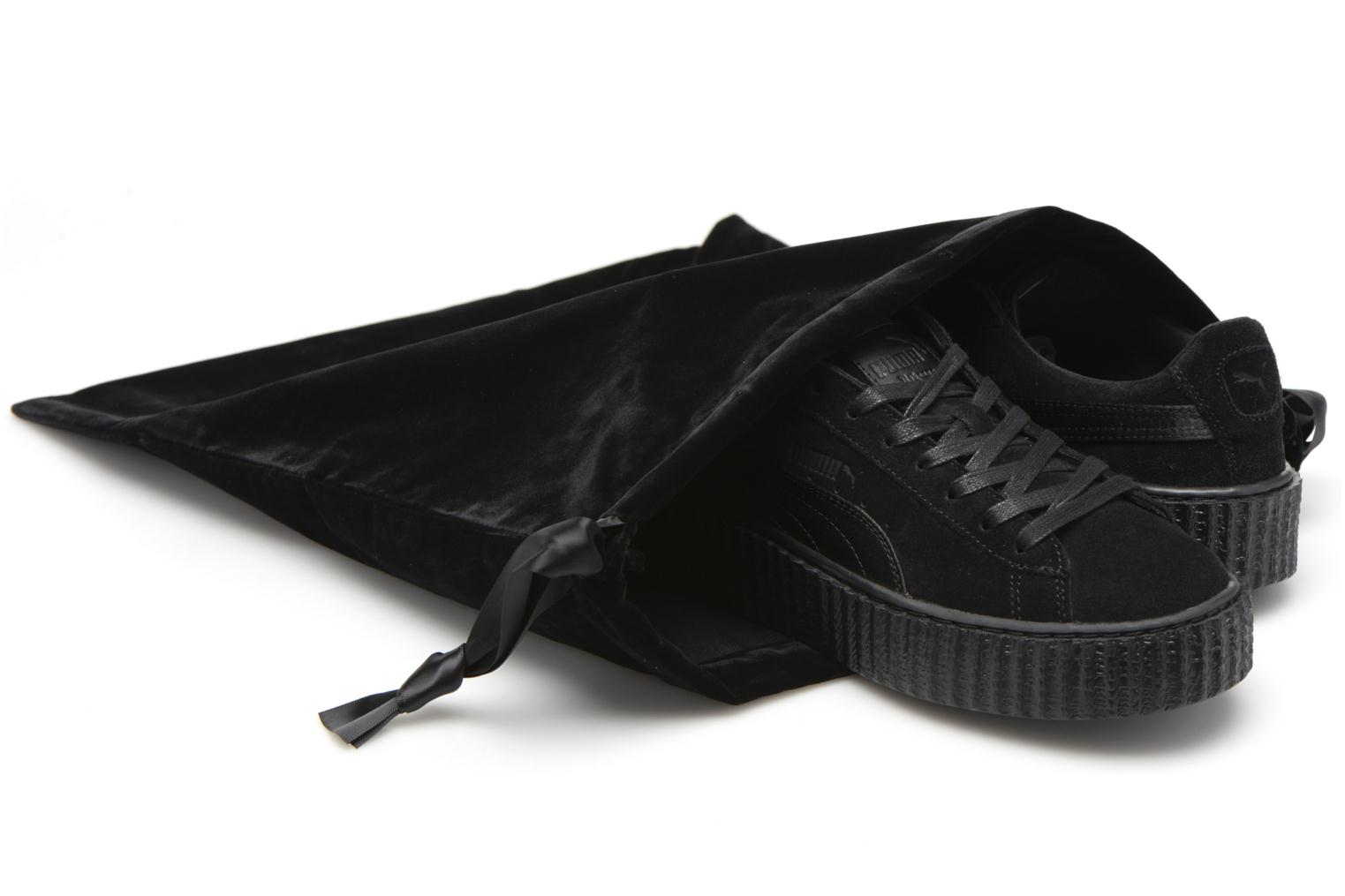 Trainers Puma WNS Suede Creepers Satin Black 3/4 view