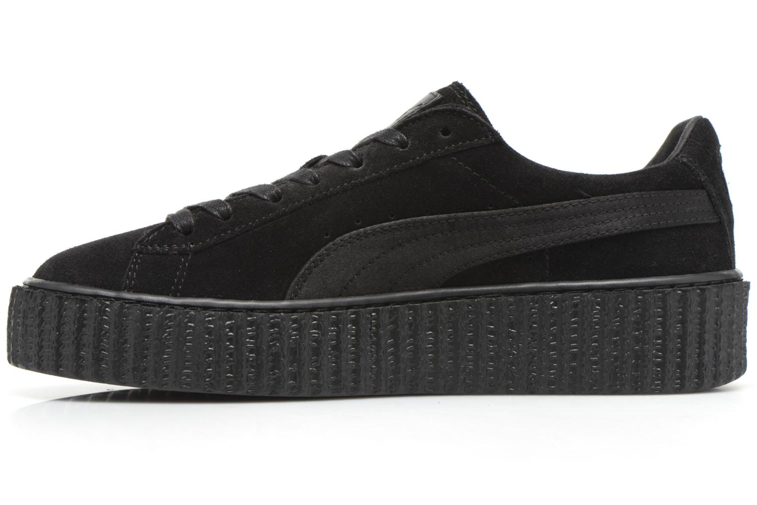 Sneakers Puma WNS Suede Creepers Satin Nero immagine frontale