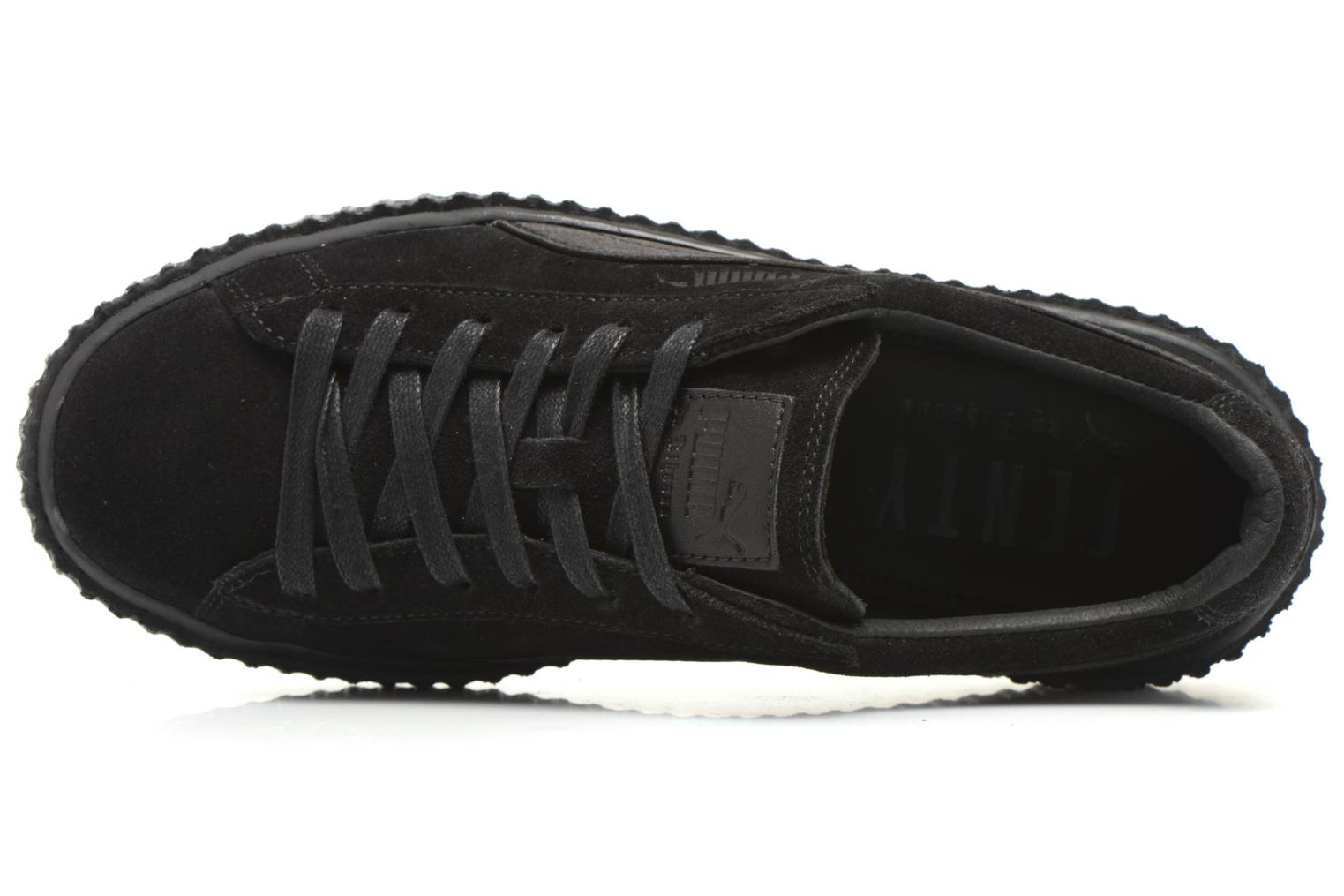 Trainers Puma WNS Suede Creepers Satin Black view from the left