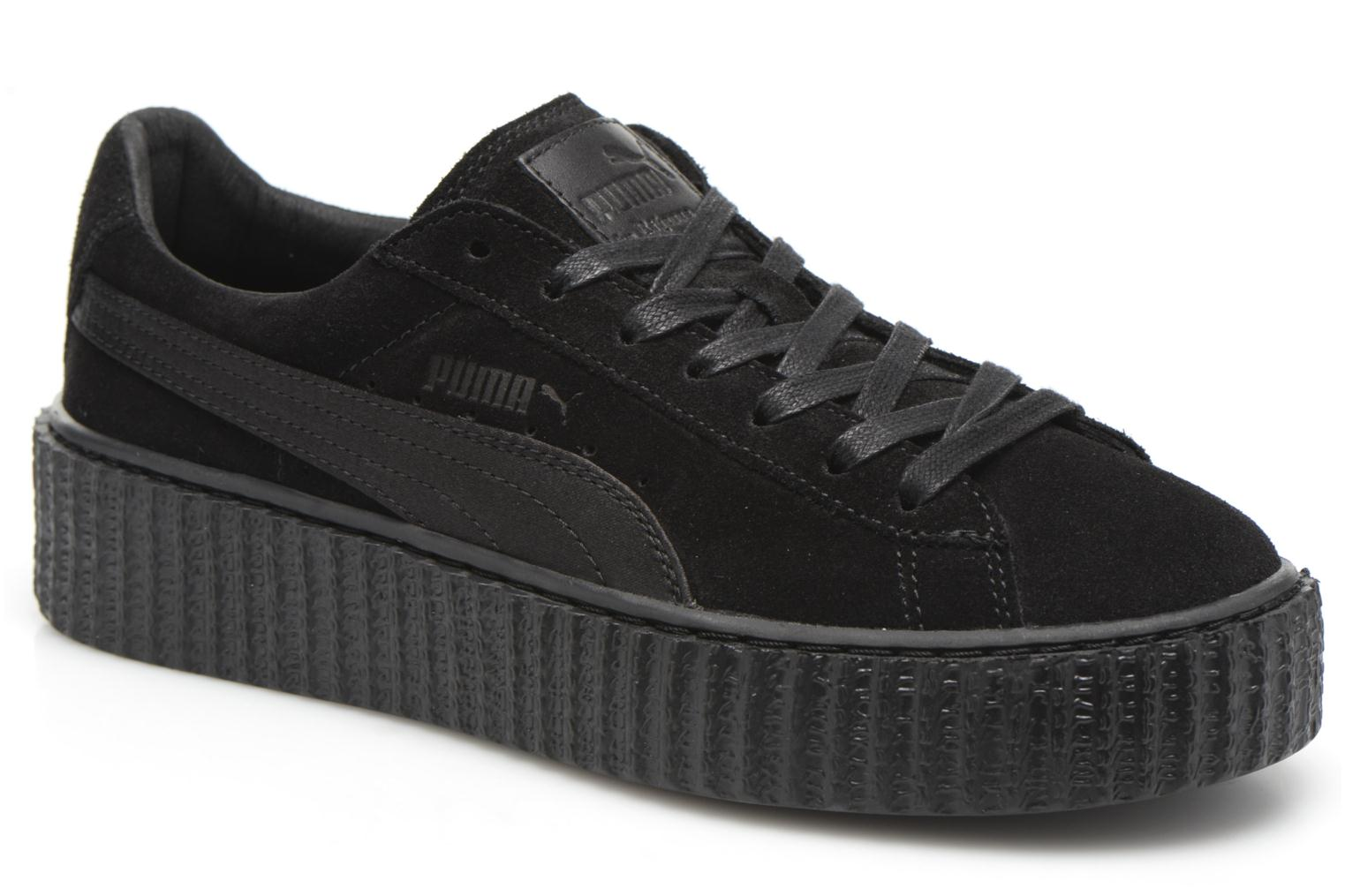 Trainers Puma WNS Suede Creepers Satin Black detailed view/ Pair view