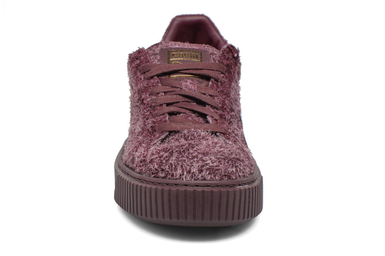 Baskets Puma Suede Creeper Elemental Bordeaux vue portées chaussures