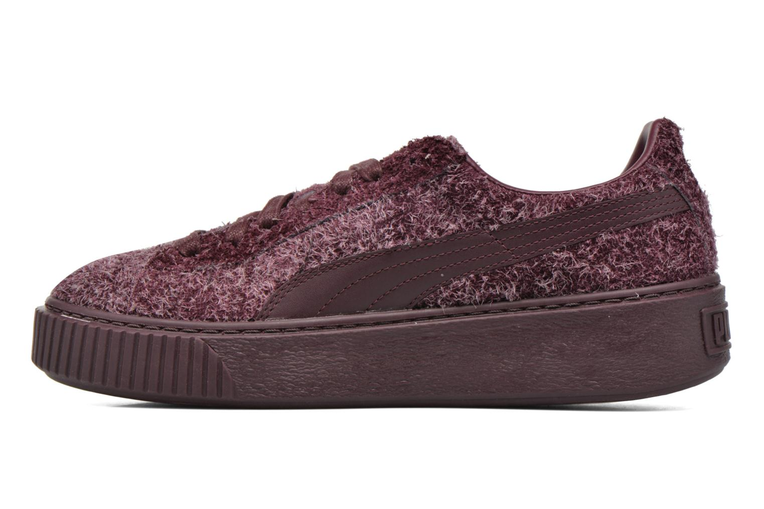 Trainers Puma Suede Creeper Elemental Burgundy front view