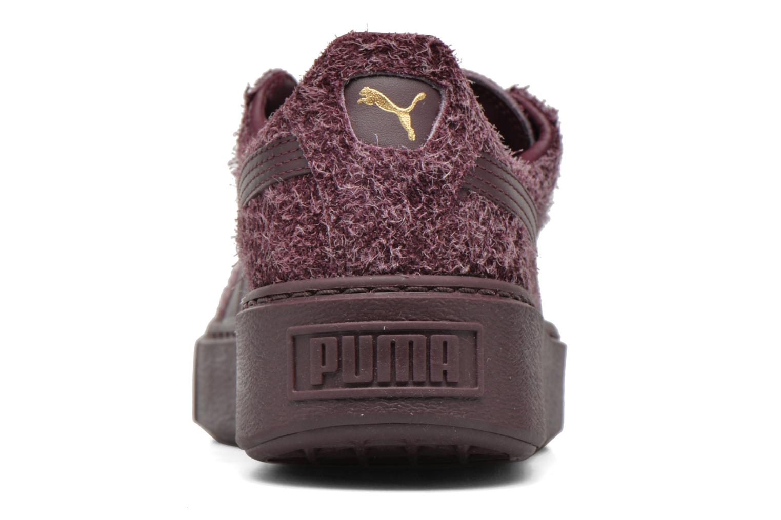 Trainers Puma Suede Creeper Elemental Burgundy view from the right