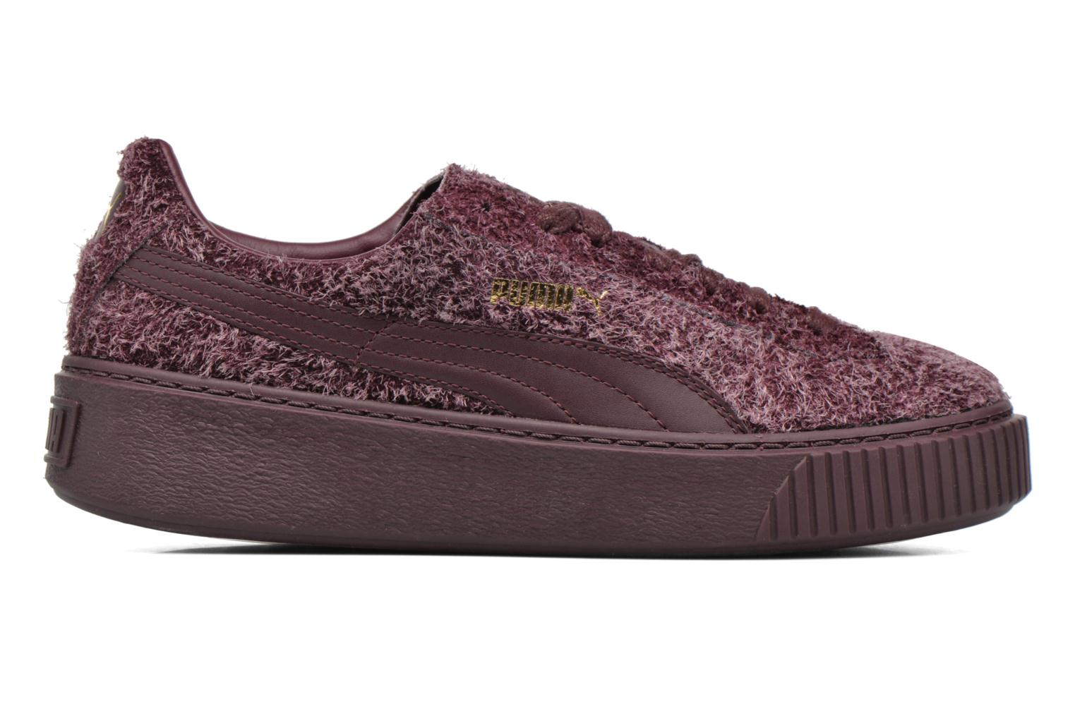Trainers Puma Suede Creeper Elemental Burgundy back view