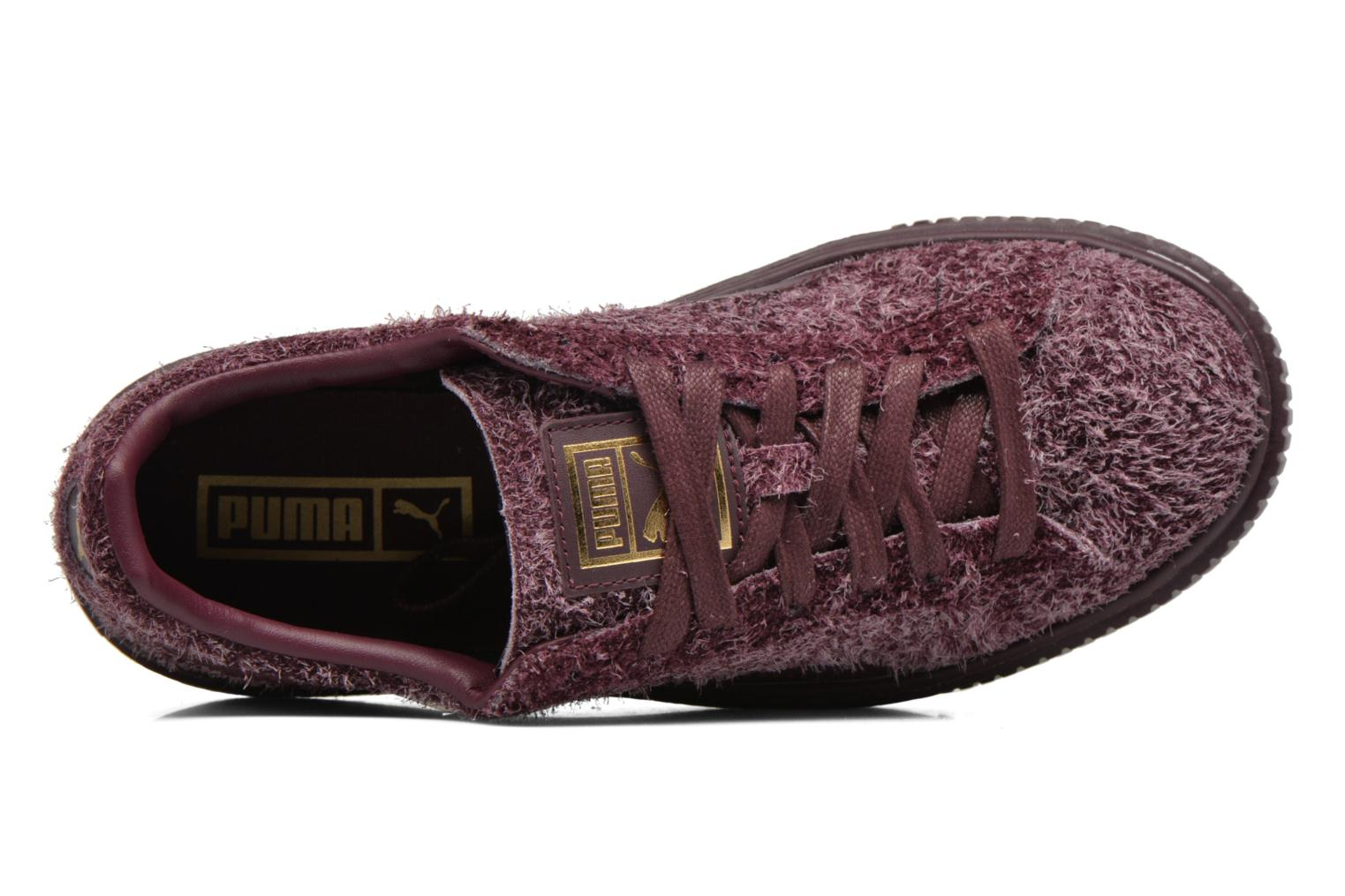 Trainers Puma Suede Creeper Elemental Burgundy view from the left