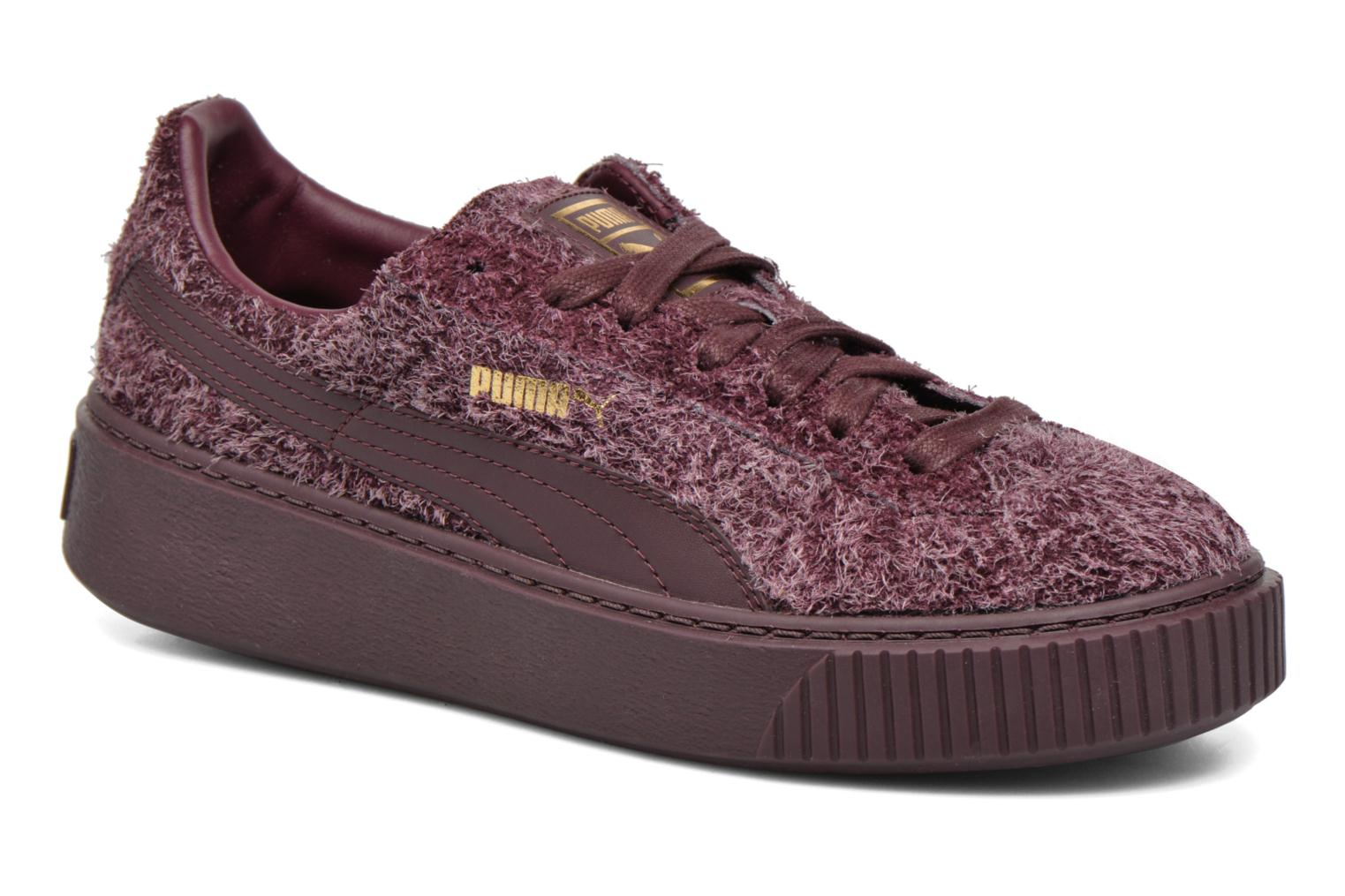 Trainers Puma Suede Creeper Elemental Burgundy detailed view/ Pair view