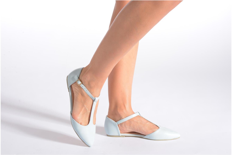 Ballerinas I Love Shoes Kiba blau ansicht von unten / tasche getragen