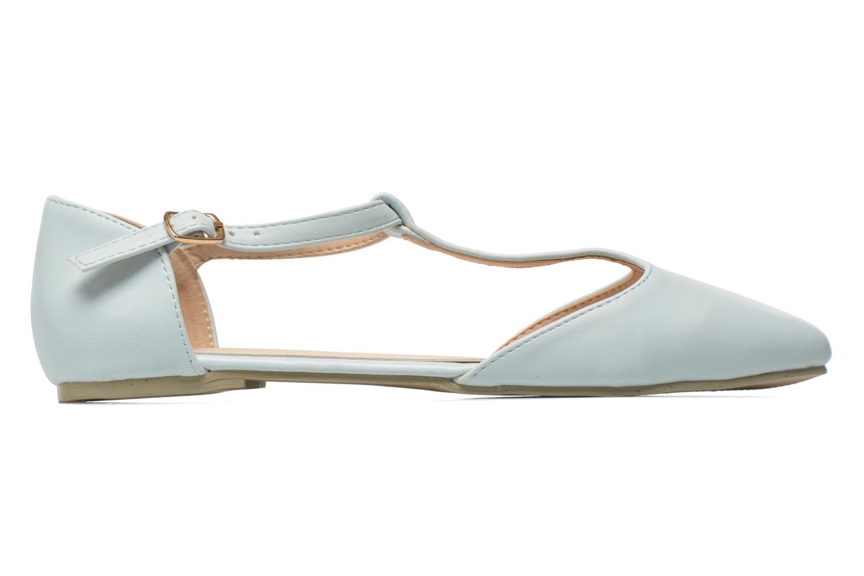 Ballet pumps I Love Shoes Kiba Blue back view