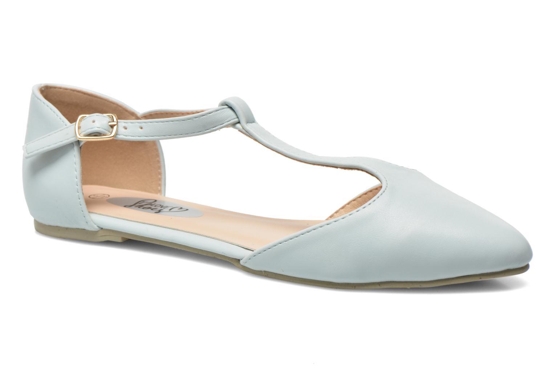 Ballerines I Love Shoes Kiba Bleu vue détail/paire