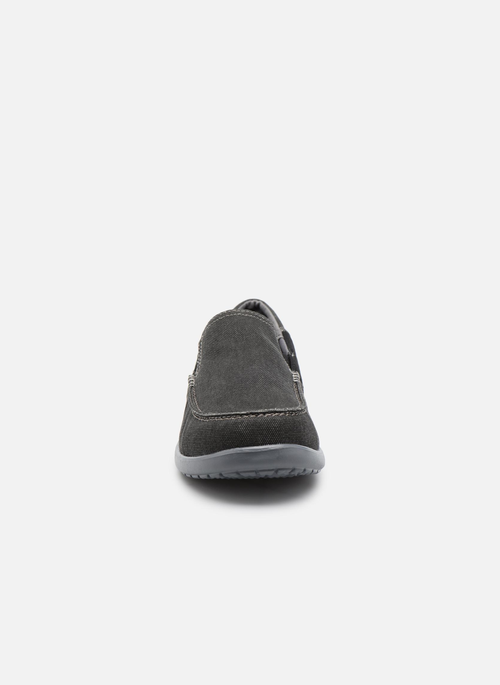 Sneaker Crocs Santa Cruz 2 Luxe M schwarz schuhe getragen