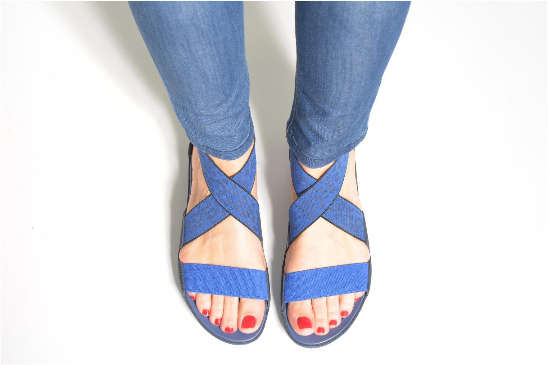 Sandales et nu-pieds Crocs Crocs Anna Ankle Strap Sandal Bleu vue bas / vue portée sac