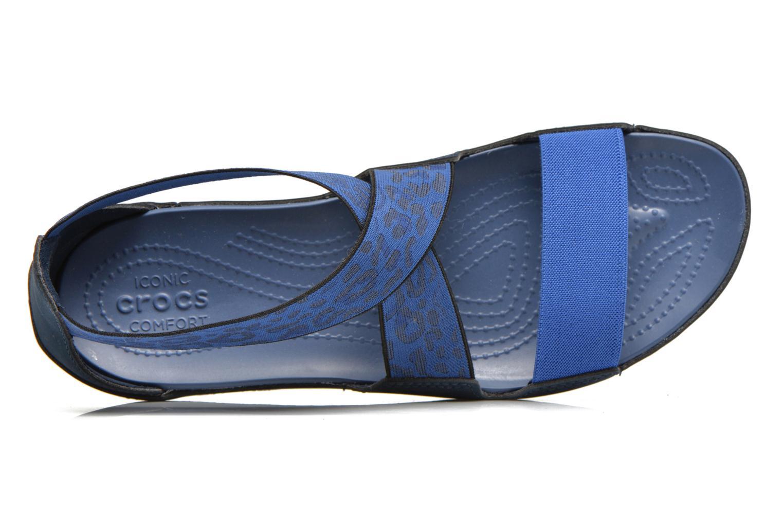 Sandales et nu-pieds Crocs Crocs Anna Ankle Strap Sandal Bleu vue gauche