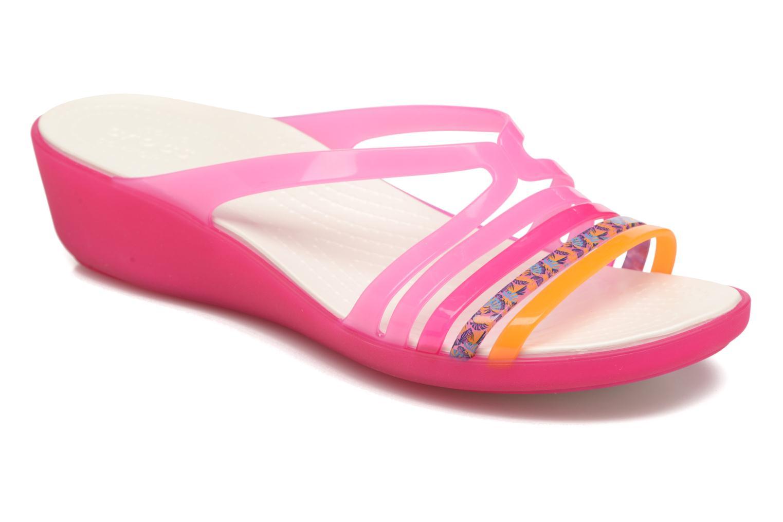 Mules et sabots Crocs Crocs Isabella Mini Wedge W Rose vue détail/paire